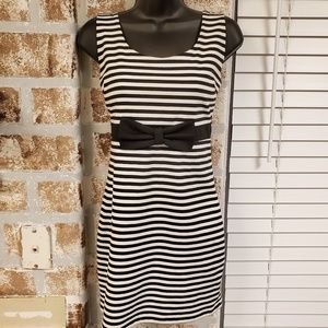 Forever 21 striped bow mini dress